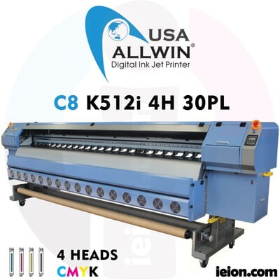 Allwin C8 K512i 4H 30PL Low Solvent Printer