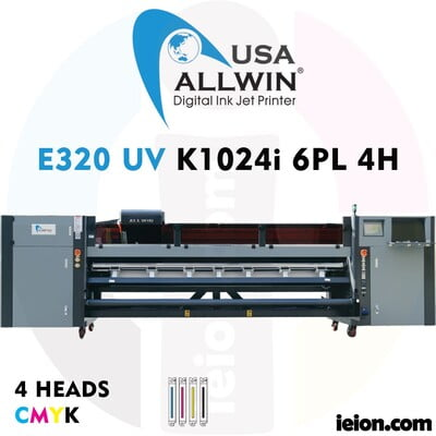 Allwin UV LED Roll to roll E320 K1024i 6PL 4H Printer