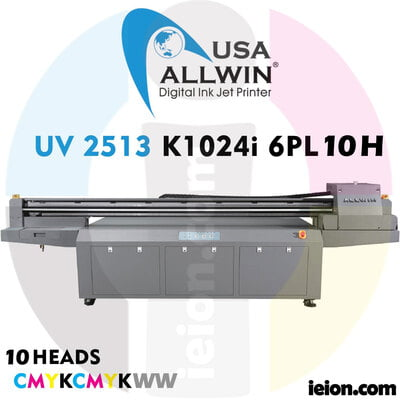 Allwin UV LED Flatbed  2513 K1024i 6PL 10H Printer