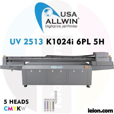 Allwin UV LED Flatbed 2513 K1024i 6PL 5H Printer