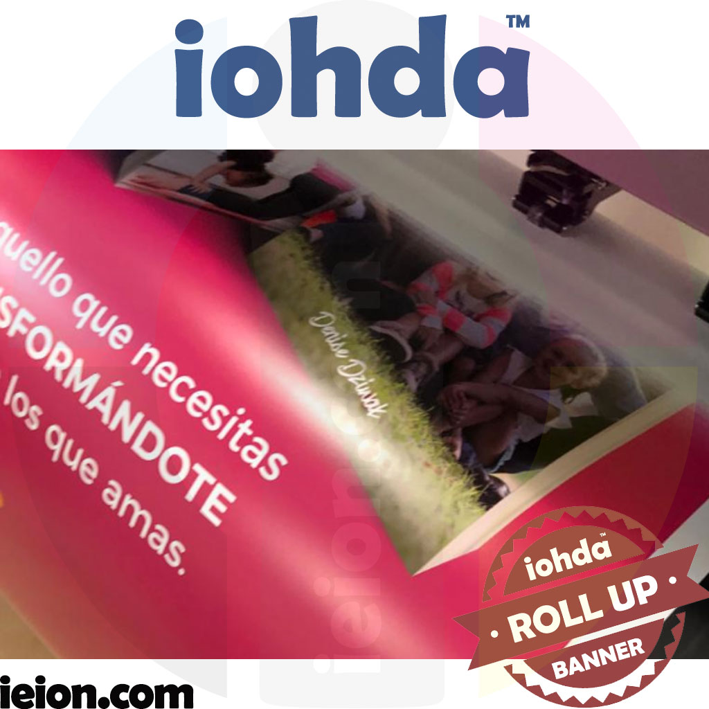 "iohda ROLL UP BANNER,grey back,420gsm 38""x100'"