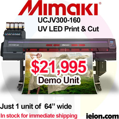 Mimaki UCJV300-160 LED UV Printer Roll to Roll