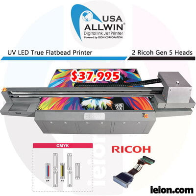 Allwin UV 2513 4 Colors CMYK Ricoh Gen 5 2H Printer