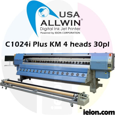 Allwin C1024i PLUS KM1024i 4H 30PL Low Solvent Printer