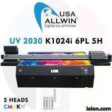 Allwin UV LED Flatbed 2030 K1024i 6PL 5H Printer