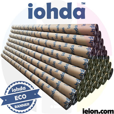 iohda ECO 10oz banner hot lam black back,Hard tube package